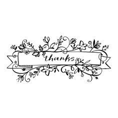 www.fawnsberg.com, lettering, floral, thank you, banner, illustration