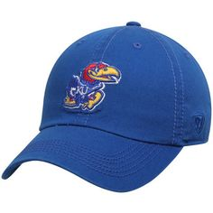 new product df8fc 04375 Men s Top of the World Royal Kansas Jayhawks Solid Crew Adjustable Hat