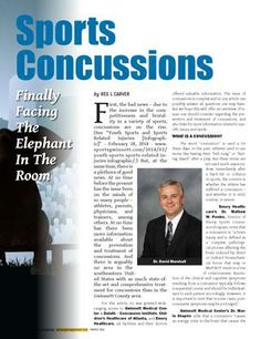 "Check our Dr. David Marshall in Sports Gwinnett Magazine discussing ""The Elephant in the Room"""