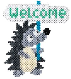 Welcome - Hedgehog Hama mini beads - HAMA 5617