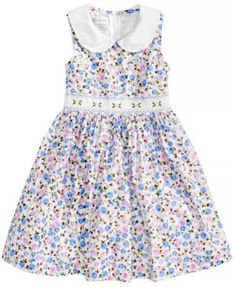 a92bb8eb43 Bonnie Jean Floral-Print Smocked-Waist Dress, Toddler Girls & Reviews -  Dresses - Kids - Macy's