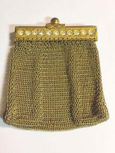Handbag Silver Woven Mesh Old Coin Purse CollectionVintage Vintage French Purse