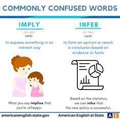 Commonly confused words: Imply vs Infer