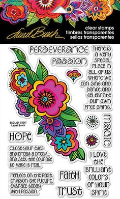 Laurel Burch Floral Reflections Clear Stamp Set by Stampendous (4011855)