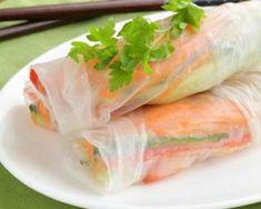 Rouleaux de printemps asperge et surimi : http://www.fourchette-et-bikini.fr/recettes/recettes-minceur/rouleaux-de-printemps-asperge-et-surimi.html