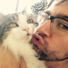 "Torrance Coombs on Instagram: ""Teaching my cat Blue Steel"""