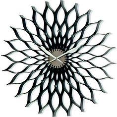 Nuevo Lotus Brown Oversized Wall Clock