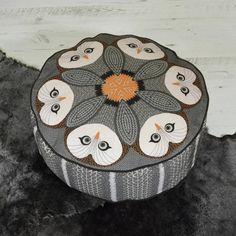 Night Owl Patterned Pouffe Beanbag