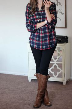 Looking for a plaid top with sleeves.  Loved the shirt in my last fix but it was sleeveless.