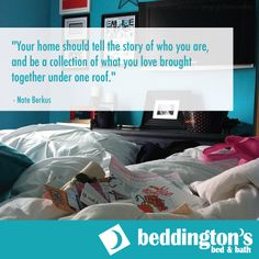 Oxford Mills Home Fashion Factory Outlet and Beddington's Bed & Bath Roof Quotes, Nate Berkus, Bed & Bath, Are You Happy, Bedding, House Styles, Collection, Home, Bed Linens