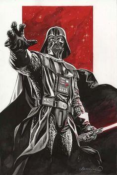 Star Wars: Darth Vader by Lee Bermejo Vader Star Wars, Star Wars Art, Star Trek, Darth Vader Poster, Star Wars Poster, Darth Vader Tattoo, Darth Maul, Geeks, Amidala Star Wars