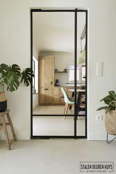 Black Steel Doors With Glass – The Marble Home Living Room Interior, Home Living Room, Door Design Interior, Interior Glass Doors, Pivot Doors, White Doors, Steel Doors, Windows And Doors, Interior Architecture