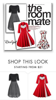 """""""Rosegal 56/II"""" by nermina-okanovic ❤ liked on Polyvore featuring vintage and rosegal"""