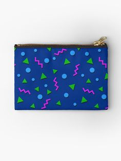 Collection - Memphis Zipper Pouch by manfex Iphone Wallet, Iphone Cases, Dresses With Leggings, Gifts For Family, Zipper Pouch, Tech Accessories, Ipad Case, Decorative Throw Pillows, Zip Around Wallet