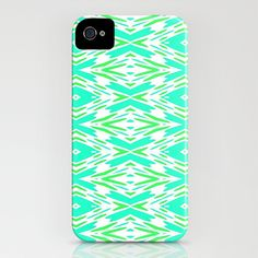 Aqua and Green... iPhone Case by Lisa Argyropoulos - $35.00