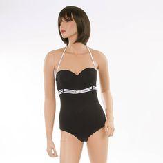 JOLIDON Damen Bandeau Badeanzug F1142U-001 schwarz Bekleidung Damen