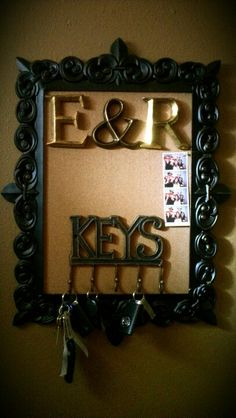 Red metal key hole with acrylic knob home is wherever i for Hobby lobby bulletin board letters