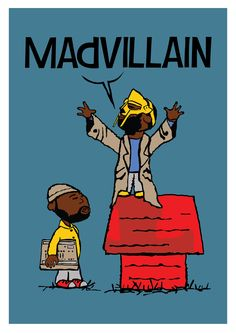 Madvillain print by Shades of Blue Prints.