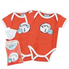 Dr Seuss Thing 1 & 2 Twin Gift Set (Red) | Dress Us | Shop Online | Twins UK