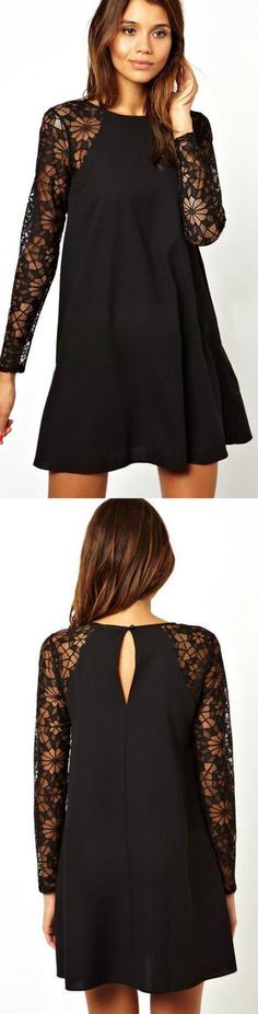 Spring Fashion Casual Dress! Click The Image To Buy It Now or Tag Someone You Want To Buy This For.  #BlackCasualDress