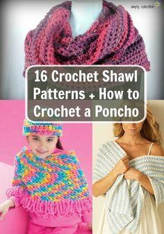 16 Crochet Shawl Patterns + How to Crochet a Poncho
