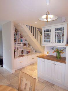 under stairs storage and display
