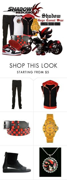 """Shadow The Hedgehog - Shadow"" by gamer-geek-chic ❤ liked on Polyvore featuring True Religion, Toy Watch, NIKE and YES"