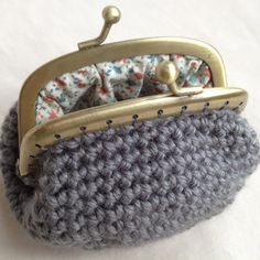 Grey Crochet Coin Purse by MakerMama on Etsy