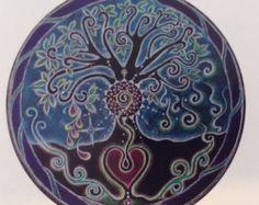 Mandala Sticker Full Moon Mandala Tree of от SoulArteEclectica