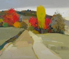 "\""Autumn ne Polene\"", 2009, 80 X 70 Cm, Oil - Pashk Pervathi"