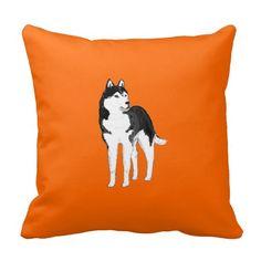 Siberian Husky throw pillows or cushions