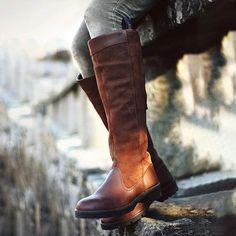 57524f74630b32 Women Non-slip Outdoor Boots Waterproof Low Heel Paneled Boots – lalasgal  Hohe Schuhe