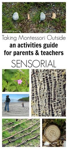 This post includes Outdoor Montessori Activities for the Sensorial area. Montessori Practical Life, Montessori Homeschool, Montessori Classroom, Montessori Toddler, Montessori Activities, Montessori Elementary, Preschool Math, Teaching Kindergarten, Teaching Reading