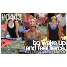 """...After the struggle of getting out of bed before the sun rises. """"Reasons to be fit"""""""
