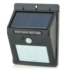 ไฟติดผนังโซล่าเซลล์ 6 SMD LED Motion sensor 5 Solar Security Light, Solar Energy, White Light, Outdoor Lighting, Led, Lights, Wall, Black, Solar Power