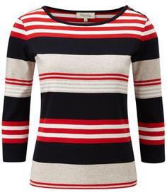 Multi Cotton Rib Stripe Top