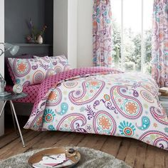 Florance Paisley Multi Reversible Duvet Quilt Cover Bedding Set – Linen and Bedding Luxury Duvet Covers, Luxury Bedding Sets, Bed Duvet Covers, Duvet Sets, Duvet Cover Sets, Bed Sets, Purple Bedding, Gold Bedding, Camo Bedding