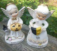 Napco Boy And Girl October Birthday Angels