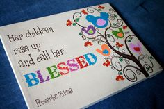BLESSED Gift for Mom original painting personalized by enowotny1