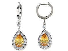 Yellow Topaz #earrings