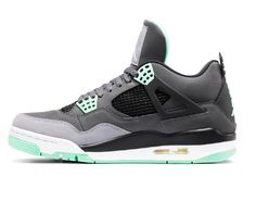 """super cute f46a6 b300e The peeps from the Air Jordan division surprised us with this Jordan 4  Retro grey green glow colorway A.A """"Green Glow"""" version."""