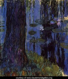 Weeping Willow and Water-Lily Pond1 1916-1919 - Claude Oscar Monet - www.claudemonetgallery.org