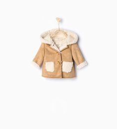 Image 1 of Sheepskin 3/1 length coat from Zara