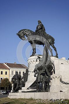 The King Matthias statue was made in 1894 by Fadrusz Janos who was awarded the first prize for his plan of King Matthias, equestrian statue, which was unveiled in Kolozsvár (Cluj-Napoca) in Underwater Sculpture, Abstract Sculpture, Anglo Dutch Wars, Equestrian Statue, Budapest Hungary, First World, Around The Worlds, Horses, Stock Photos