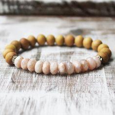 Sandalwood Sunstone Healing Bracelet
