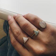 Semi Precious Moonstone Ring - local eclectic - 7