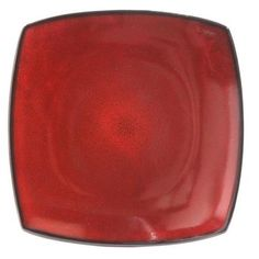 "Better Homes and Gardens Tuscan Red 10.5"" Square Dinner Plate - Walmart.com"