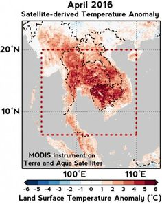 A devastating combination of global warming and El Niño is responsible for causing extreme temperatures in April 2016 in Southeast Asia, scientists have found.
