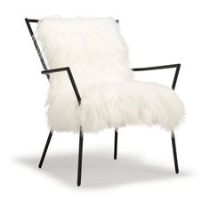 ANSEL CHAIR BLACK -TIBETAN FUR[ available online ] 29 x 29 x 35 h (seat 23w x 22 x 19 h)