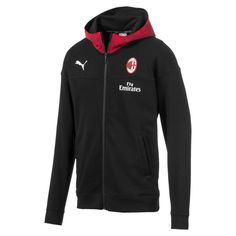 PUMA Jacket hoody AC Milan Casuals for men BlackRed Size XS Clothing Ac Milan, Puma Cat, Hooded Vest, Cat Logo, Pitch Perfect, Athletic Fashion, Adidas Jacket, Your Style, Men Casual